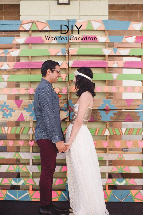 [Wedding] #DIY Wood Pallet Backdrop