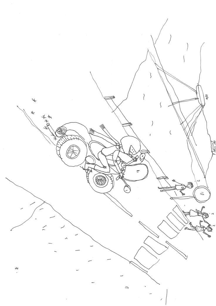 kocur na mopede cez novy most