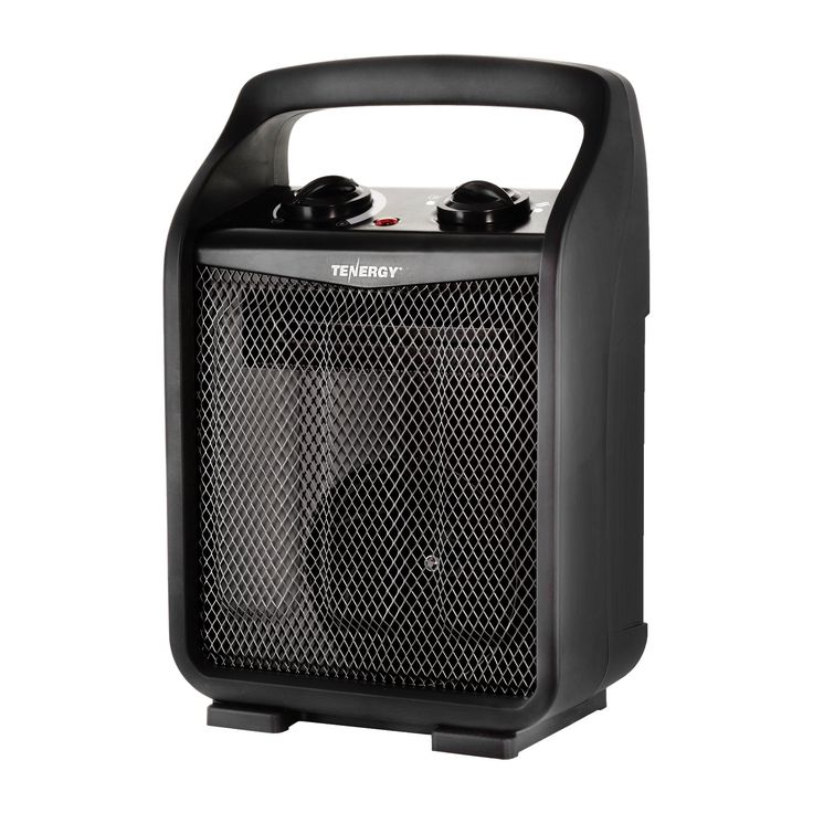 Tenergy 1500W/750W Portable Space Heaters With Adjustable Thermostat,  Recirculation Air Electric Fan Heater