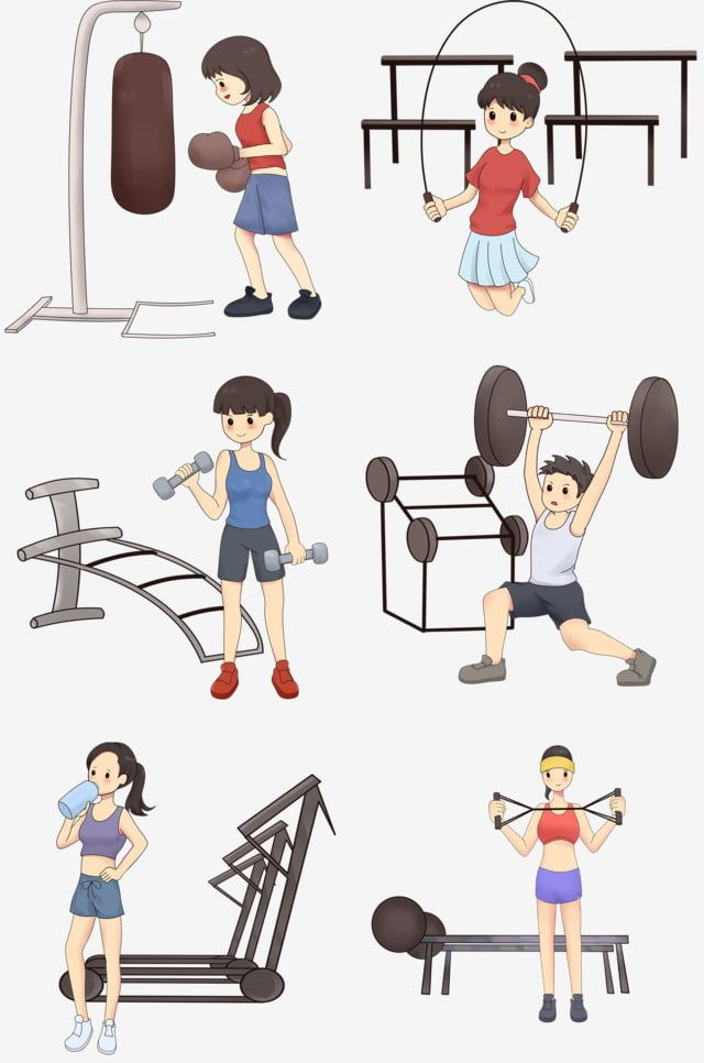 Gym Fitness Motion Female Dumbbell Illustration Slim Png Transparent Clipart Image And Psd File For Free Download Gym Workouts Muscle Girls No Equipment Workout