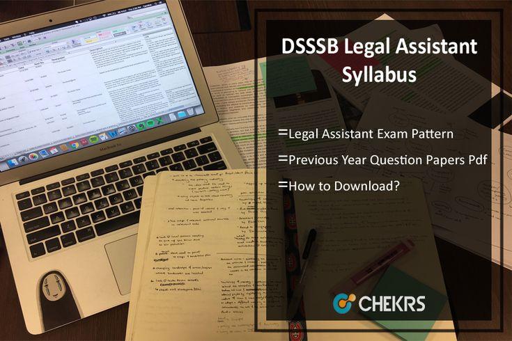 DSSSB Legal Assistant Syllabus 2017 Previous Question Papers Pdf