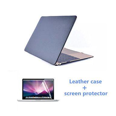 høy qaulity pu lærveske og hd skjermbeskytter for MacBook Air 11.6 tommer (assorterte farger) – NOK kr. 236