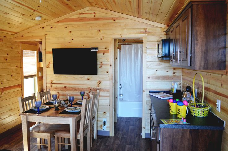 Try a Deluxe #Cabin #camping experience, new for the 2015 season. Cabana Cabins sleep up to 4 with bunks and a queen. A cozy and comfortable stay!  #KOA #CampingInCanada #Glamping #GTA #GTAgetaway #Relax #Summer #Vacation