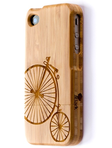 'Pennies from Heaven' Laser Engraved Bamboo iPhone Case