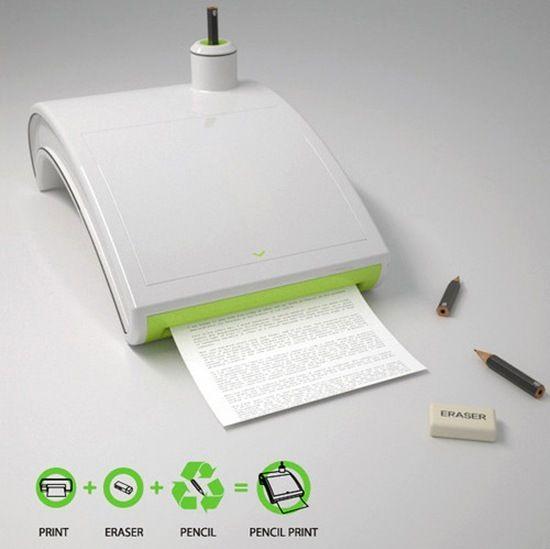 Eco Friendly Pencil Printer Allows you to delete the prints