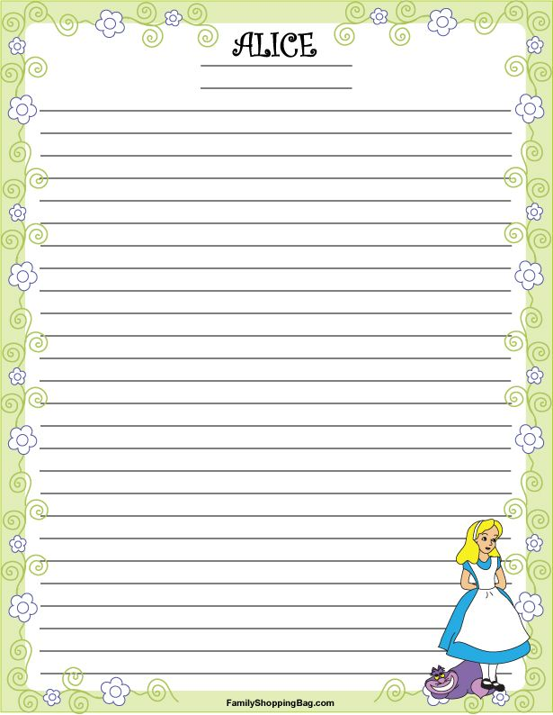 stationery 1 alice alice in wonderland stationery free printable ideas from