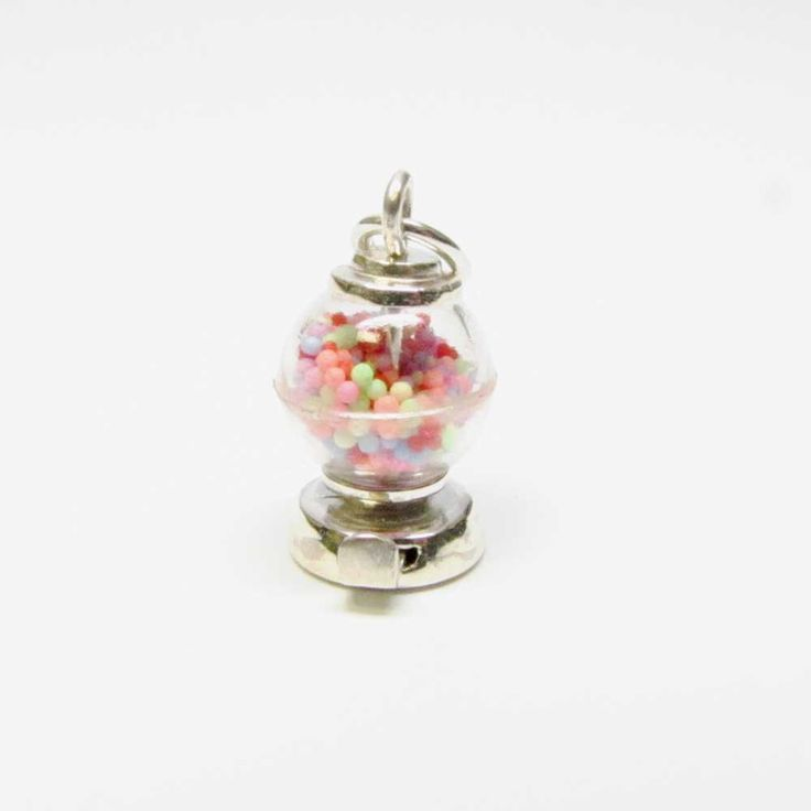 GUMBALL MACHINE Charm, Gumball Machine Necklace Pendant, Sterling Silver Charms, Candy Charms, Candy Jewelry, Brown County Silver, 3D Charm by BrownCountySilver on Etsy https://www.etsy.com/listing/265434714/gumball-machine-charm-gumball-machine