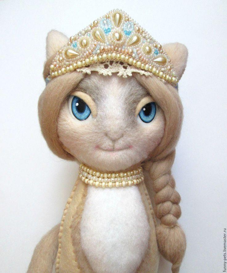 Купить Игрушка Кошка. Русская Краса (резерв) - кошка, подарок, подарок на день рождения