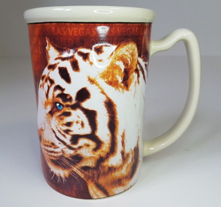 Siegfried & Roy At The Mirage Las Vegas Coffee Mug Cup Tiger Sculpted | eBay #themirage #siegfriedandroy