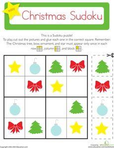 Christmas Sudoku Worksheet