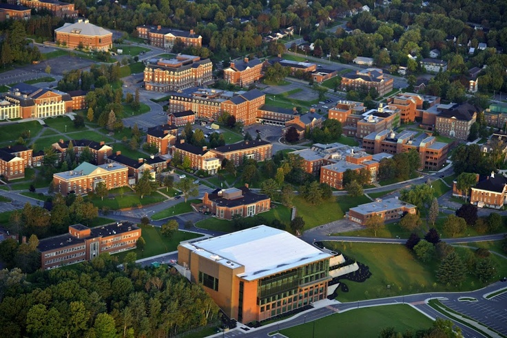Aerial shot of UNB Fredericton.    Photo provided by Tourism Fredericton.
