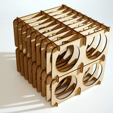 wine rack with laser cutter