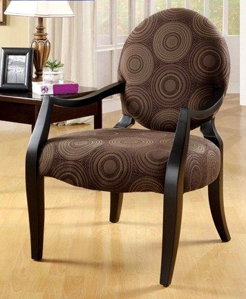 wooden arm chairs living room. Sit comfortably on this Shea arm chairChocolate upholstery with a circles  pattern covers the seat and backAccent chair also showcases sloped wooden arms 56 best accent chairs prints images Pinterest Accent