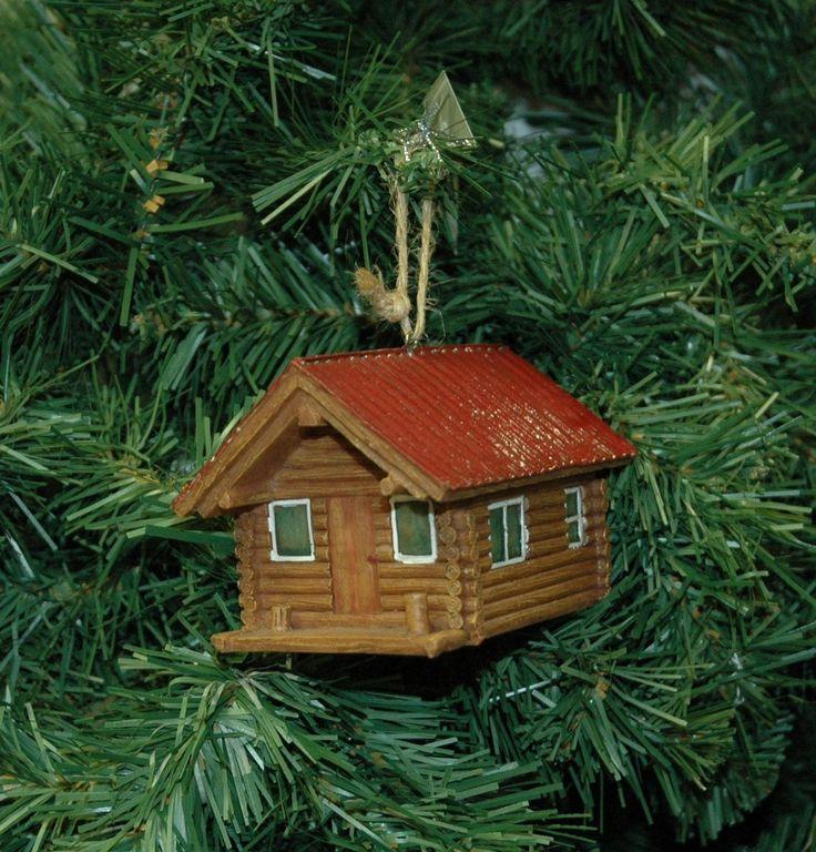 Log Cabin Christmas Ornament. Ebay