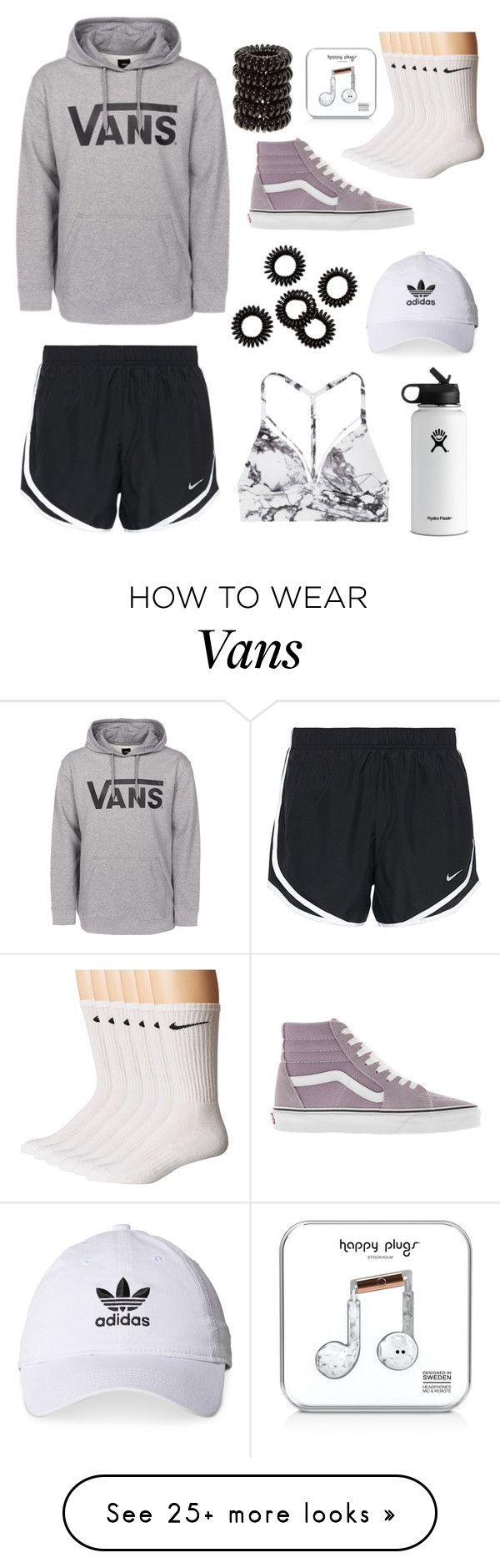 """""""I got the shoes and hoodie today :))"""" by melbiebarracko on Polyvore featuring Vans, Hydro Flask, adidas, NIKE, Happy Plugs and Victoria's Secret"""