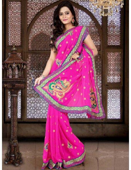 Buy Unique Sangeet Saree Online. http://www.bharatplaza.com/womens-wear/sarees.html