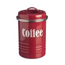 Vintage Inspired Coffee Canister Red