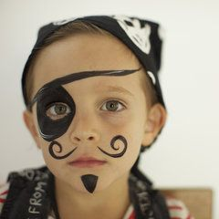Pirate face painting-easy Renaissance festival costume for the kiddo and cute!