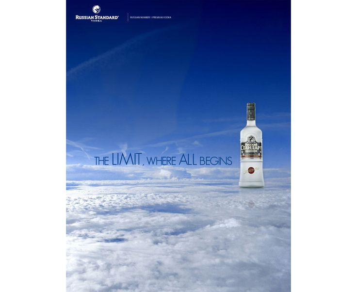 Propuesta para Russian Standard Vodka.  Este proyecto esta basado en la alta calidad del producto y hace referencia al su alto nivel socio económico de aquellos que lo adquieren. Refleja su cualidad principal que esta por encima de todo y no es para todos.