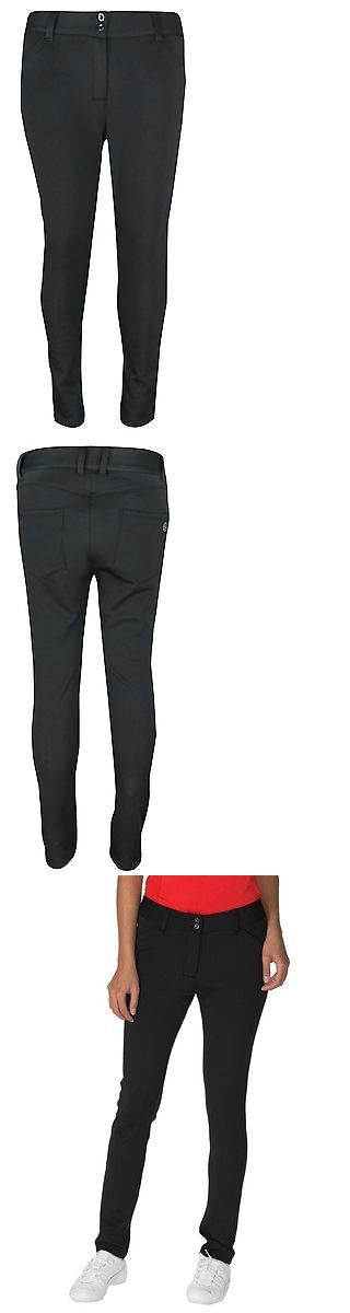 Pants 181148: New Chase54 Golf- Ladies Motion Knit Trousers Black Size 10 BUY IT NOW ONLY: $49.99