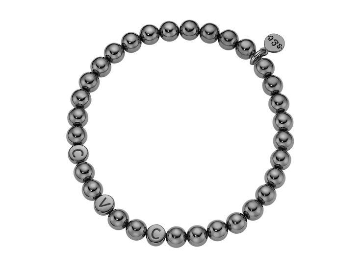 men black silver letter bracelet 2