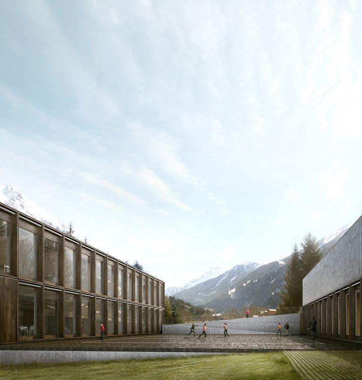 Centre Scolaire à Bagnes, Lopes Brenna Architetti + Rafael Verhaeghe Marques