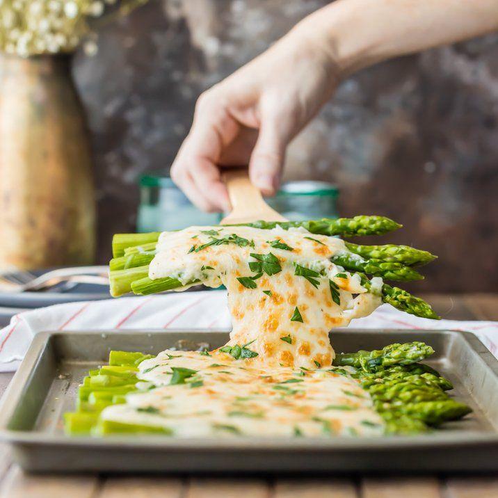 Three Cheese Asparagus Gratin via @beckygallhardin
