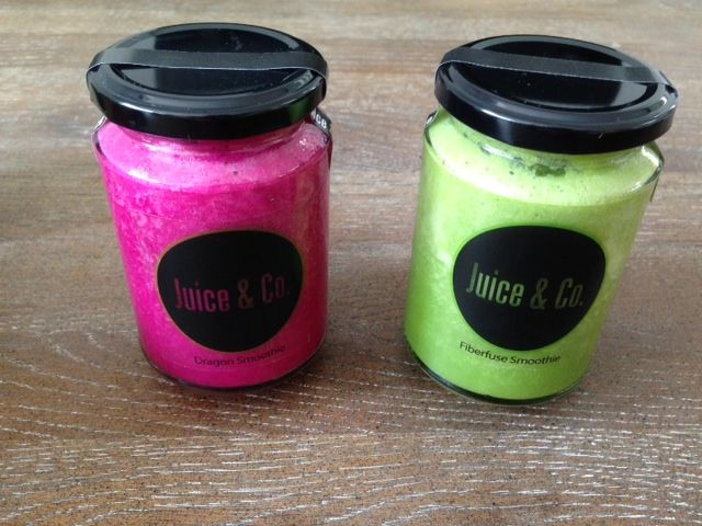 Our smoothies are blended using Vitamix blender. Pink Podium and Fiberfuse.