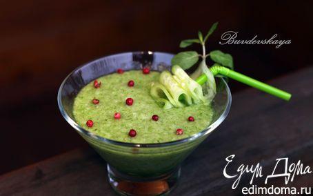 Питьевой салат с огурцом и дыней | Кулинарные рецепты от «Едим дома!»