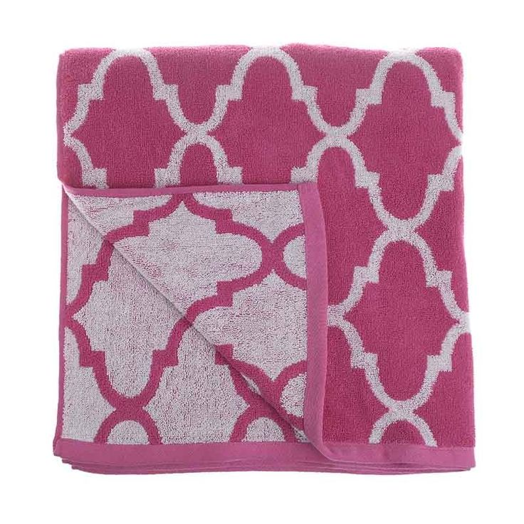 BEACH TOWEL TREND FUCSHIA - Towels