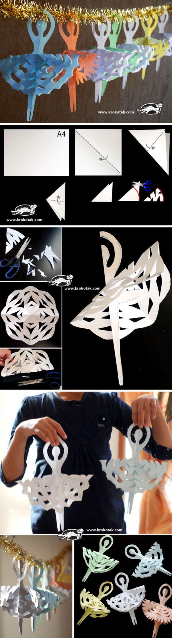 Snowflake Ballerina Ornaments.
