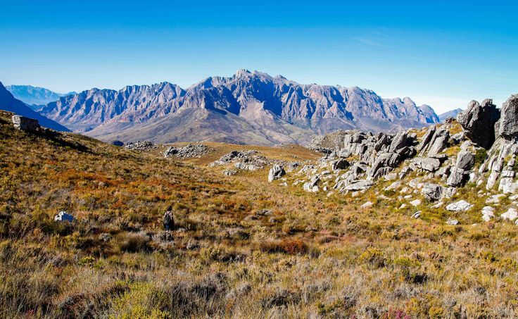 Views of the Du Toitskloof Mountains in Paarl.