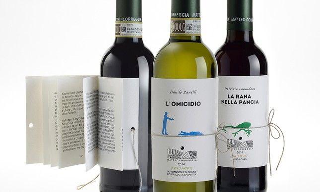 Rótulos de vinhos italianos se transformam em livros de pequenas histórias