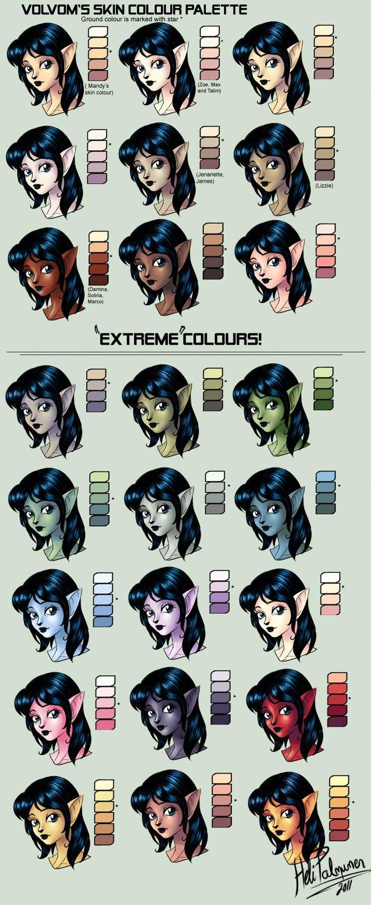 Please Click Here For More Drawingtips Skin Color Palette Skin Drawing Skin Palette