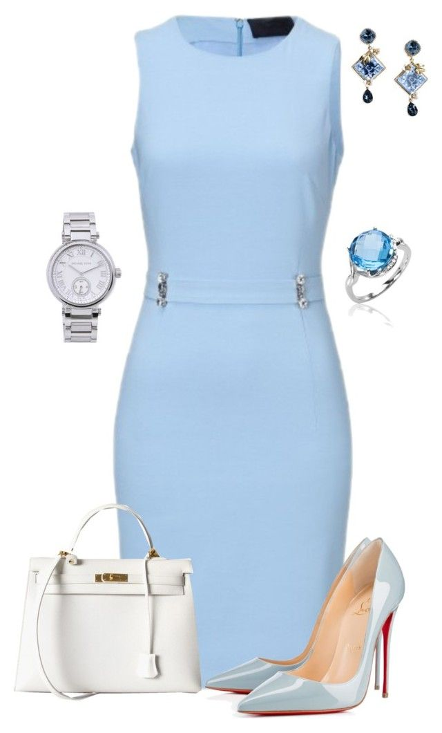 Untitled #461 by angela-vitello on Polyvore featuring polyvore, мода, style, Christian Louboutin, Hermès, MICHAEL Michael Kors, Dolce&Gabbana, fashion and clothing