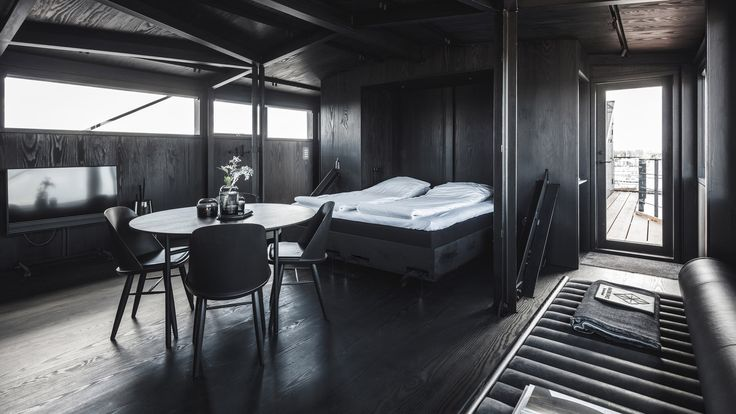 Creative.  Architecture firm Arcgency has turned an industrial coal crane in a Copenhagen harbour into a luxury a two-person retreat.