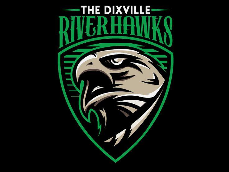 Hawks with images sports logo design game logo design