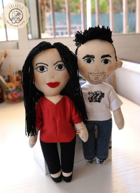 Lelleco Blog: los novios, muñecos