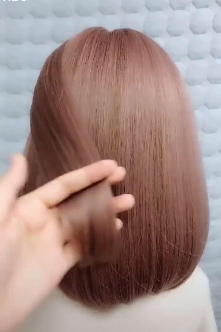 Elegant Hairstyle #hairtangles #deepwavecrochetbraids #straighthairlong #loosewaveinshortbob #deepwavehumanhairwig #deepwavefrontalwig #EasyElegantHairstyles