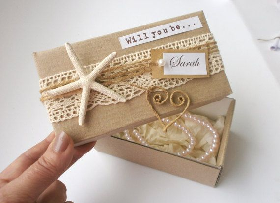Will You Be My Bridesmaid Beach Theme Boxed By Vesyartstudio