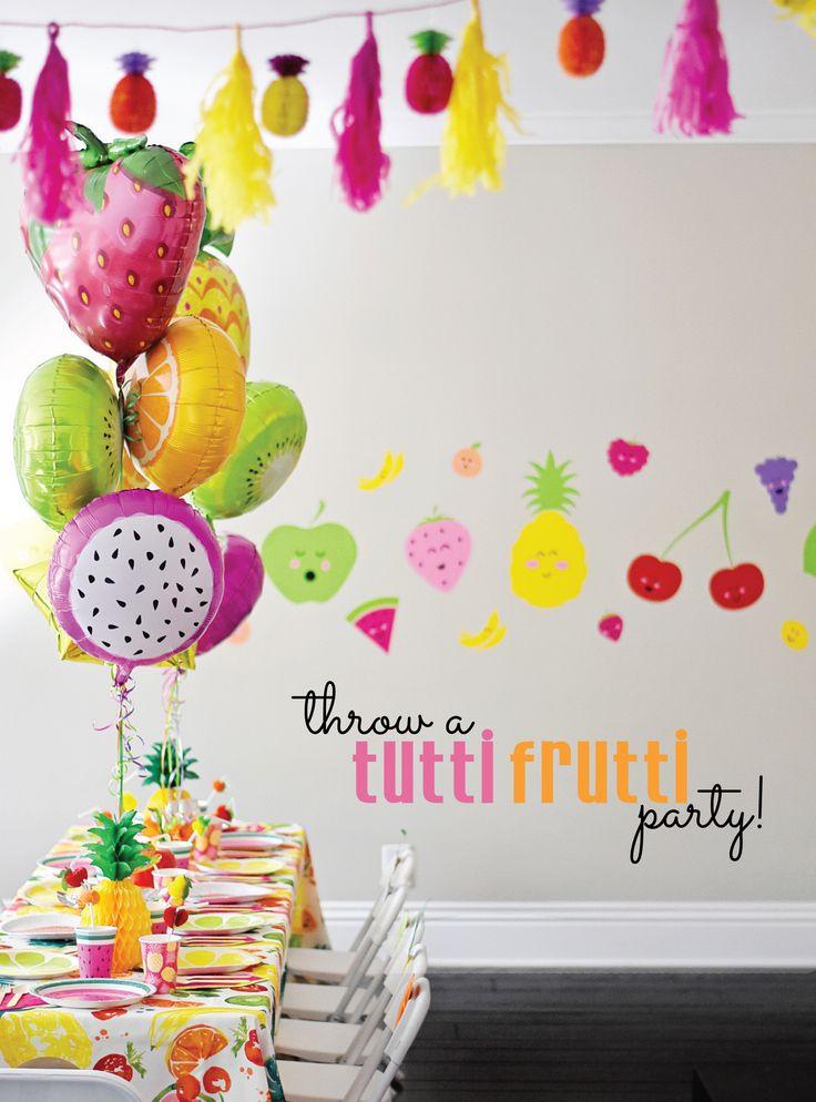 Cute and Colorful Tutti Frutti Birthday Party