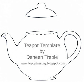 Tea Pot card template