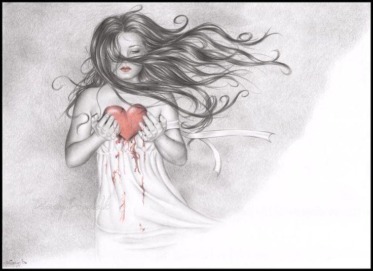 Broken Bleeding Hearts Drawings Heart By Zindy