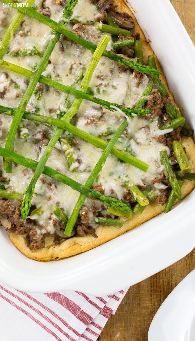 HEALTHY RECIPES: Beef, Mushroom, and Asparagus Bake.