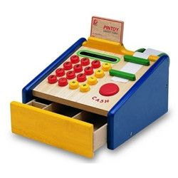 Pintoy Wooden Cash Register - Send A Toy