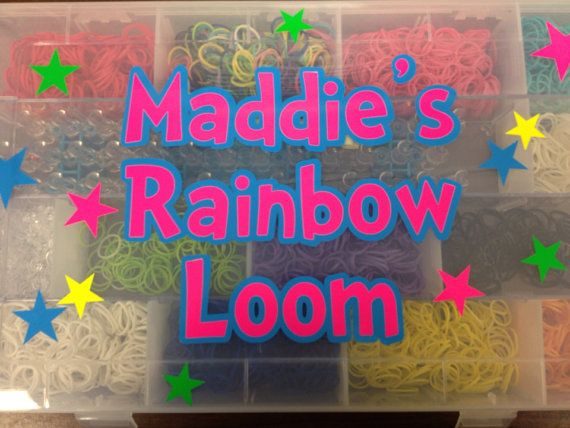Personalized Rainbow Loom Case/Organizer on Etsy, $13.00
