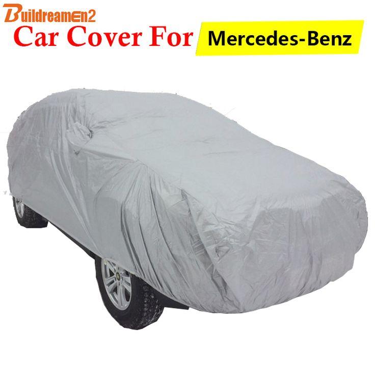 Buildreamen2 Car Cover Anti-UV Sun Rain Snow Protector Cover For Mercedes-Benz S S300E S300EL S400E S400EL S500E S500EL S350EL