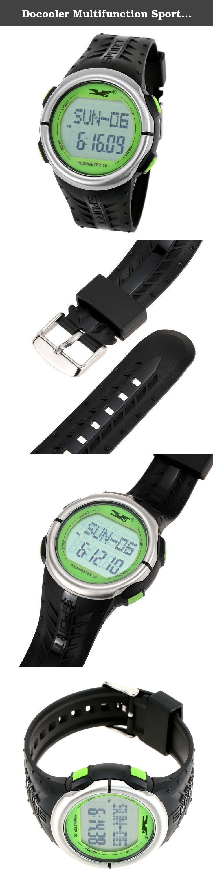 Docooler Multifunction Sports Pulse Watch Heart Rate Monitor Fitness Exercise Watch Pedometer Calorie Chronograph Stopwatch. This multi-function wrist watch can meet your various needs. Apart from being able to be used as an ordinary watch, it is also designed with the functions of pedometer and monitoring your heart rate. It is useful to help you keep fit. Features: Normal Time: Hour, Minutes, Second, Day and Weekday; 12/24 hr format; Calendar (Yr 2000-2099). 2-set alarm: Daily alarm &...