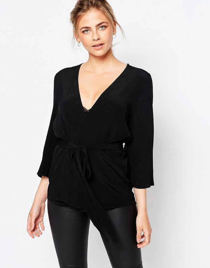 Image 1 ofNew Look Belted Kimono Top