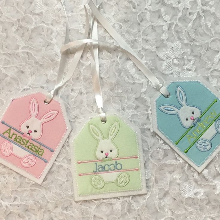 71 best gift tags images on pinterest embroidered gifts felting easter basket personalized embroidered gift tag easter basket gift tag embroidered gift tag fabricreusable embroidered gift tag negle Choice Image
